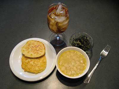 Beans Greens And Corn Fritters