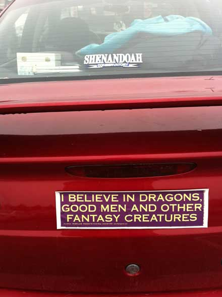 Sexist bumper sticker